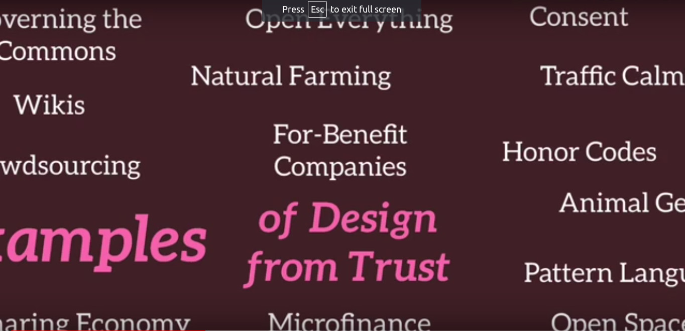 Jerry Michalski on Design from Trust