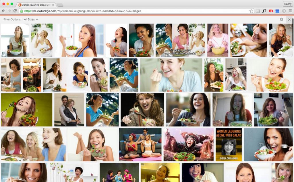 Women with lettuce