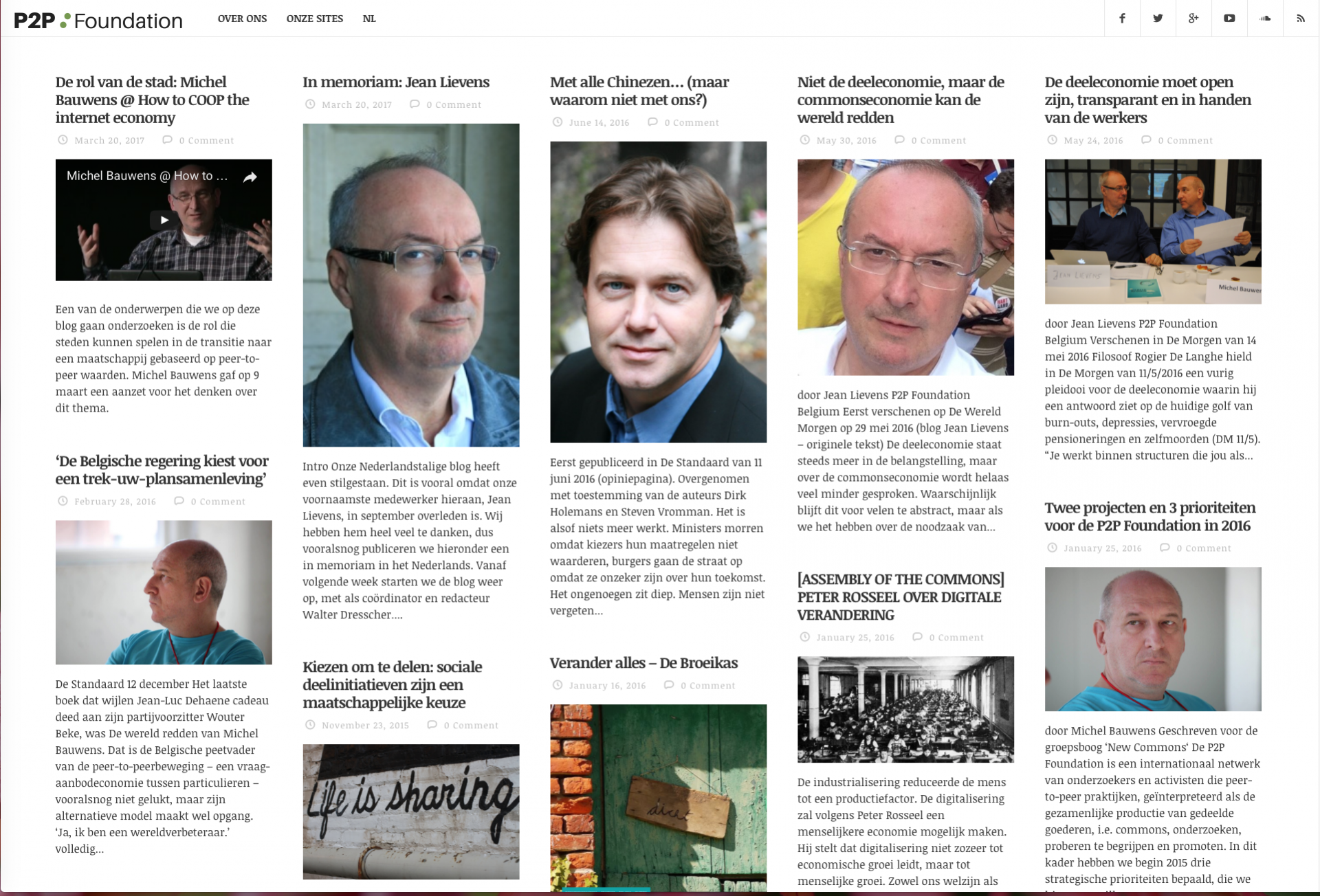Dutch P2P Foundation Blog relaunched today